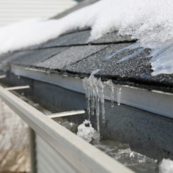 Prepare your home for winter, roof with snow and ice